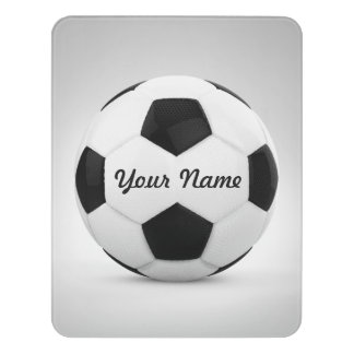 Decoration Soccer Ball Personalized Name Door Sign