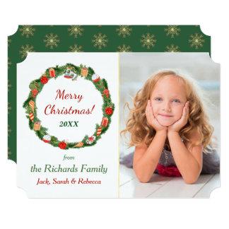 Decoration Wreath Photo Template Christmas