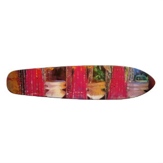 Decorations at a marriage skate board