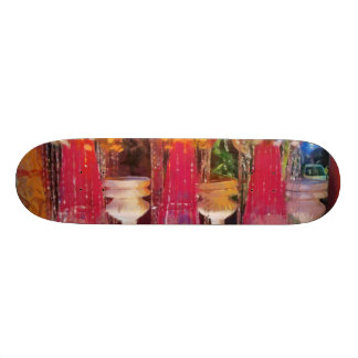 Decorations at a marriage skateboard decks