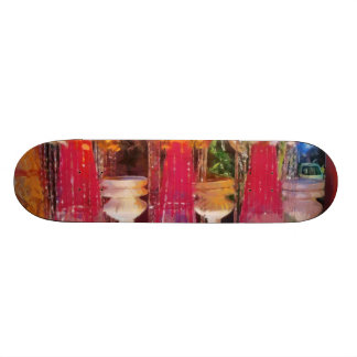 Decorations at a marriage skate deck