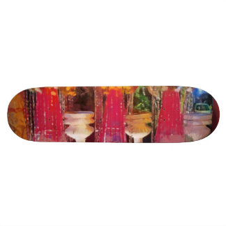 Decorations at a marriage skate board deck