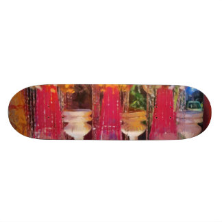 Decorations at a marriage custom skateboard
