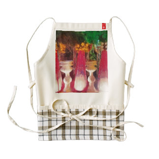 Decorations at a marriage zazzle HEART apron