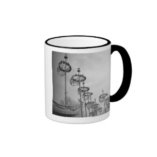 Decorations on poles B&W high section Coffee Mugs