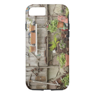 Decorations on wooden fence, Catalina Island, iPhone 7 Case