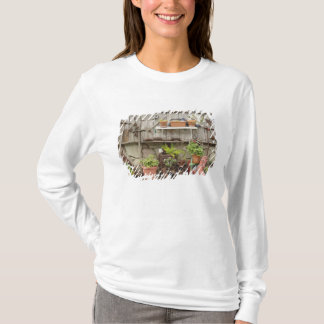 Decorations on wooden fence, Catalina Island, T-Shirt