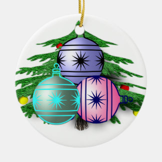 Decorations Double-Sided Ceramic Round Christmas Ornament