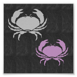Decorations SHAPES CRAB fish water animals Poster