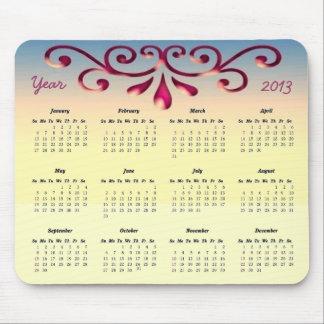 Decorative 2013 Calendar Mouse Pad