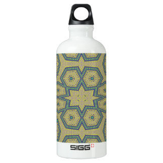 Decorative abstract art water bottle