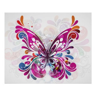Decorative abstract Butterfly Print