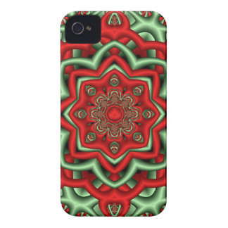 Decorative abstract Case in red & green iPhone 4 Case-Mate Cases