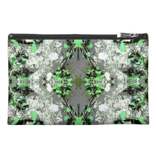Decorative Abstract in Gray and Green. Travel Accessories Bag
