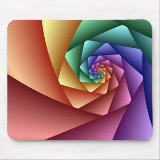Decorative abstract mousepad Spiral rainbow