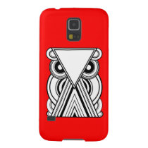 Decorative Abstract Owl (Black, White & Red) Case For Galaxy S5