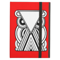 Decorative Abstract Owl (Black, White & Red) iPad Air Case