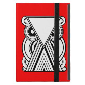 Decorative Abstract Owl (Black, White & Red) iPad Mini Cover