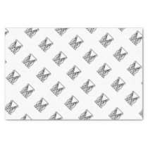 Decorative Abstract Owl (Black & White) Tissue Paper