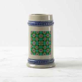 Decorative abstract pattern 18 oz beer stein