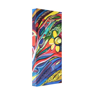 Decorative abstract sea elements canvas print
