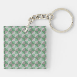 Decorative abstract square and triangle pattern keychain