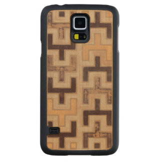 Decorative African Mudcloth Pattern Carved® Maple Galaxy S5 Slim Case