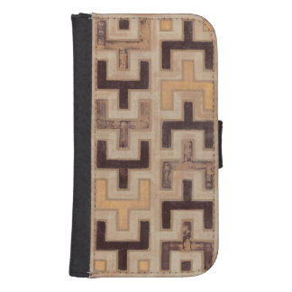 Decorative African Mudcloth Pattern Wallet Phone Case For Samsung Galaxy S4