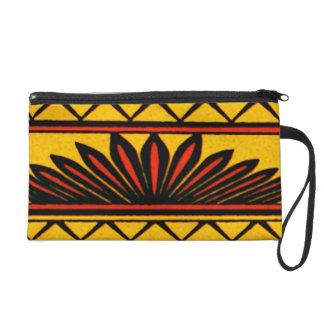 Decorative African Tribal Design Wristlet