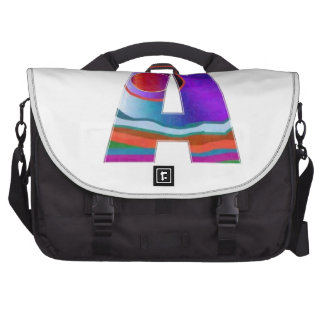 Decorative ALPHA Alphabet AAA Commuter Bags