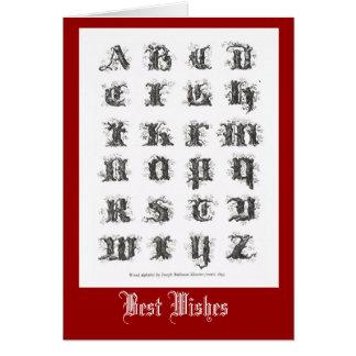 Decorative Alphabet 1861 Card