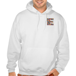 Decorative ALPHABET ART on Clothing eee Hooded Pullover