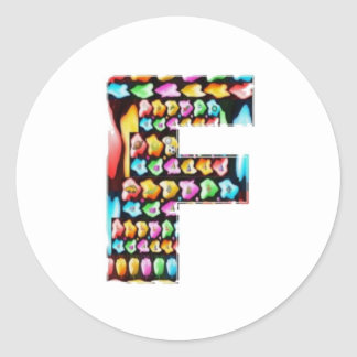 Decorative Alphabets - Party Giveaway Classic Round Sticker