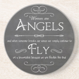 Decorative and Functional Coaster-Women Are Angels Sandstone Coaster