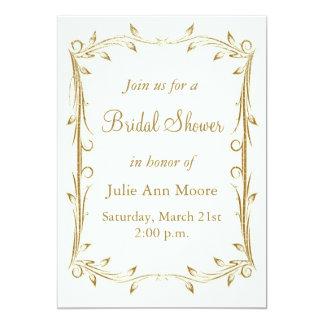 Decorative Antique Gold Border Bridal Shower Card