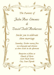 Decorative Border Invitations Zazzle