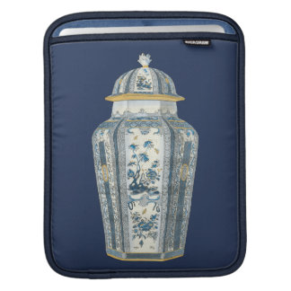 Decorative Asian Urn in Blue & White Sleeves For iPads
