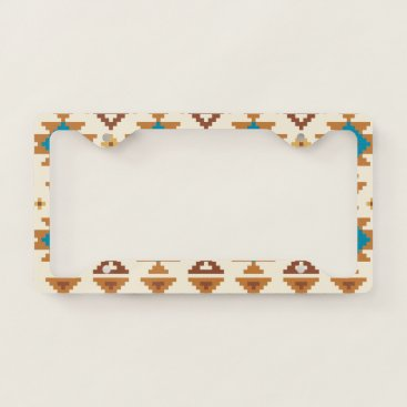 Aztec Themed Decorative Aztec. Ethnic. Tribal. License Plate Frame