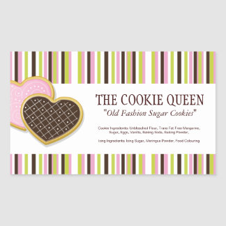 Decorative Bakery Ingredient Labels Sticker