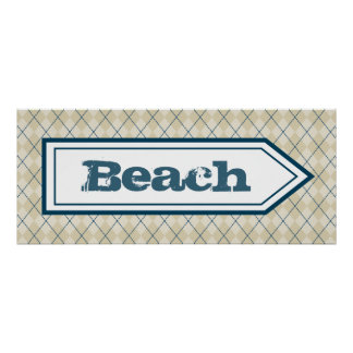 Decorative Beach House Sign Poster Wall Decor