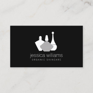 Container business cards templates zazzle decorative beauty containers cosmetologist black business card colourmoves