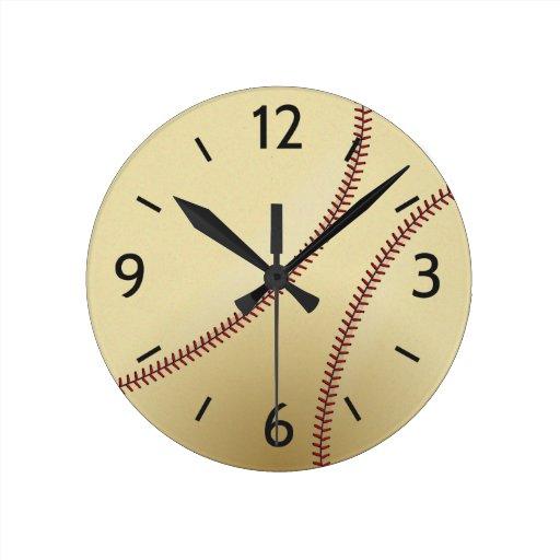 decorative bedroom wall clock for baseball fan zazzle