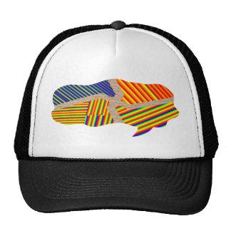 Decorative Beeds Callout Design Trucker Hat