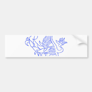 Decorative Bird Creature Bumper Sticker
