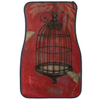 Decorative Birdcage with Butterflies Car Floor Mat