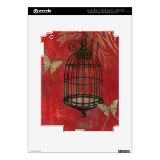 Decorative Birdcage with Butterflies Decal For iPad 3