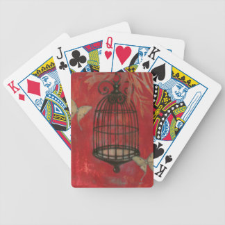 Decorative Birdcage with Butterflies Bicycle Playing Cards