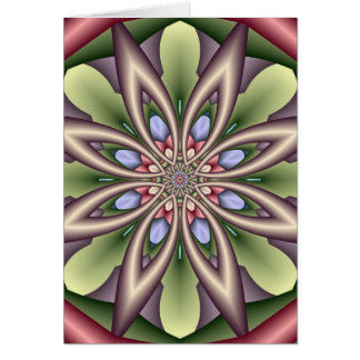 Decorative Birthday card with Fantasy Flower