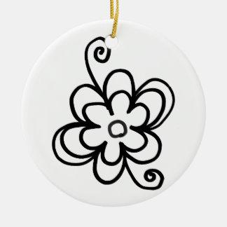 Decorative Black And White Circle Ornament