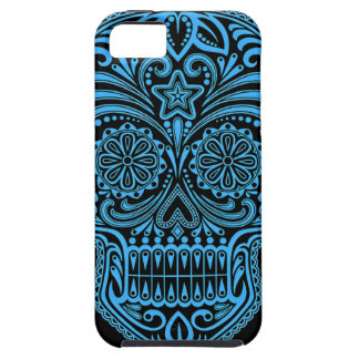 Decorative Blue and Black Sugar Skull iPhone SE/5/5s Case